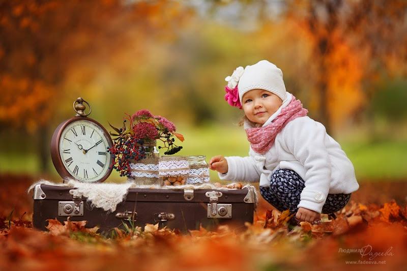 Фотопроект Золотая осень. Детский  и семейный фотограф Людмила Фадеева