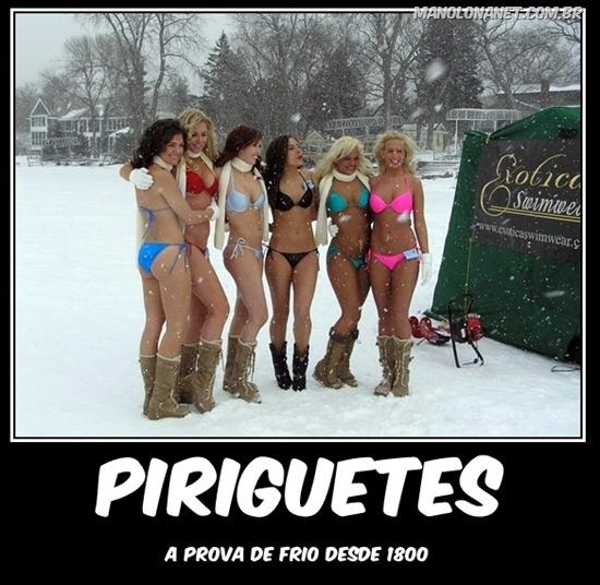 Piriguetes no Frio