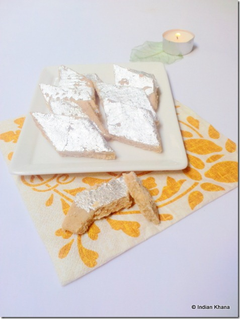 Almond Katli badam burfi deepavali recipe