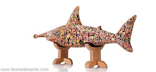 arte esculturas com skate reciclado desbaratinando  (22)
