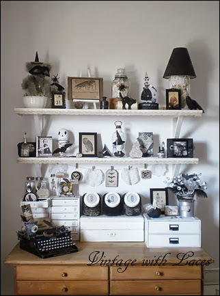 Black and White Halloween Decoration Studio