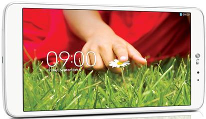 Valkoinen LG G PAD 8.3