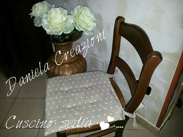 Daniela creazioni cuscino sedia shabby for Cuscini country chic