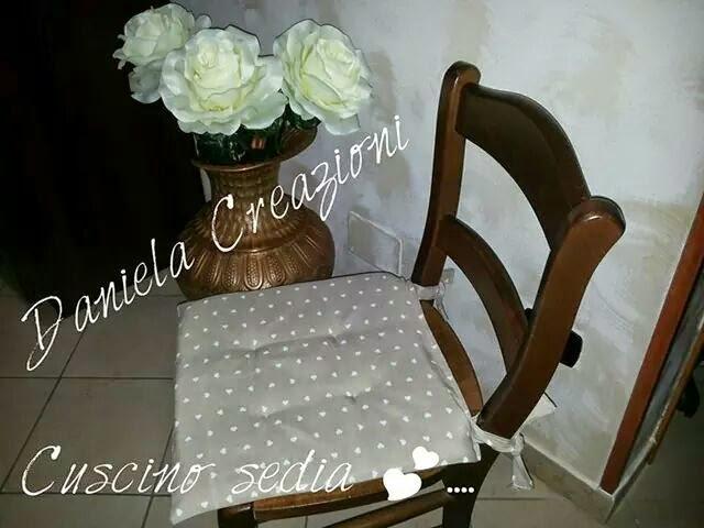 Daniela creazioni cuscino sedia shabby for Cuscini per sedie shabby chic