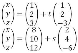 how to find if 2 vectors are parallel