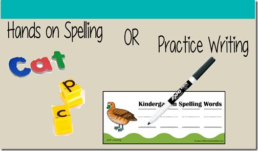 Kindergarten Spelling Practice Printable