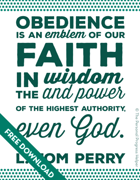 Come Follow Me: The Atonement of Jesus Christ | L Tom Perry Quote Free Download