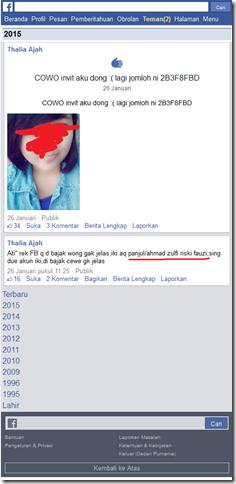 akun  facebook yang dibajak diganti profilnya namun gagal diselamatkan korban