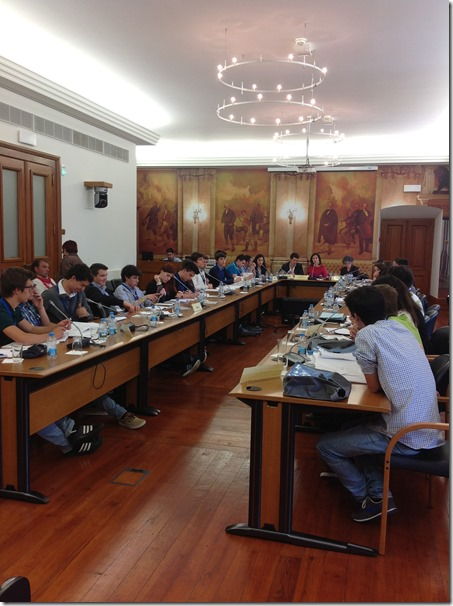 Parlamento dos jovens 2013, reunião da 6ª comissão