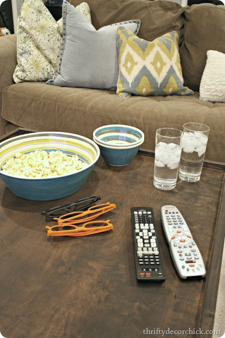 DIY wood tray entertaining