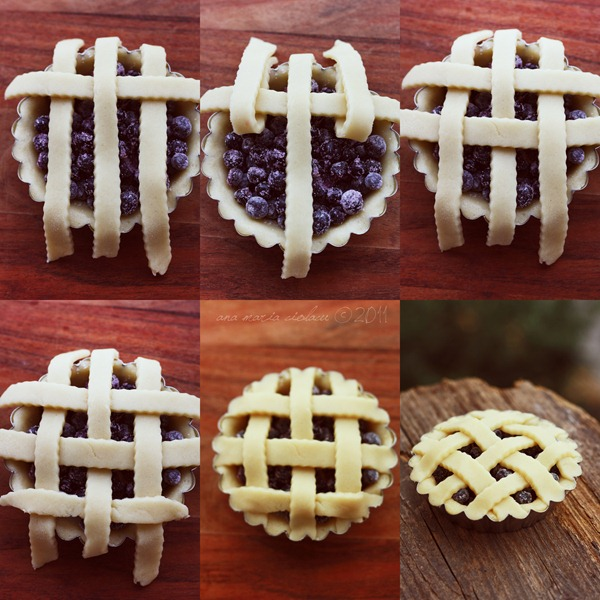 Collage blueberry tartlets 2