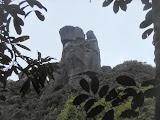 A closer look at the cliffs of Puncak Serendit on Gunung Ranai seen from further down (Dan Quinn, September 2013)