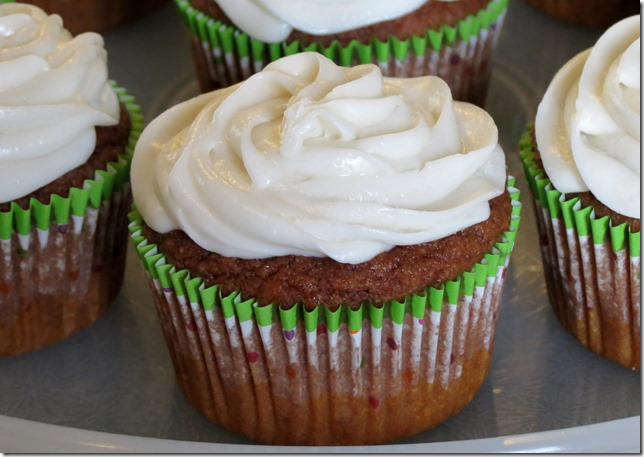 Guiltless Carrot Cupcakes 3-31-13