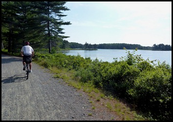 15e - Post #4 to #2 - Bill riding along Witch Hole Pond