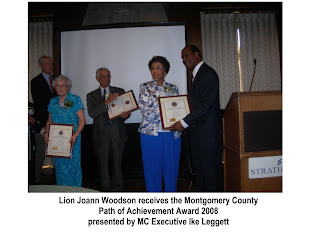 Lion Joanne Woodson Wins Award