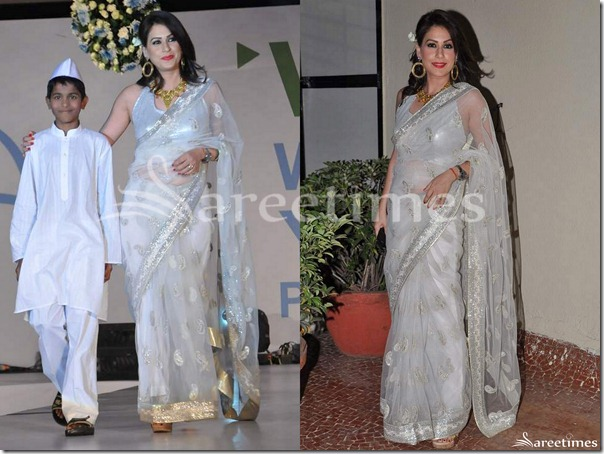 White_Embroidery_Shimmer_Faux_Georgette_Saree