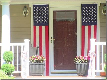 Long American flags