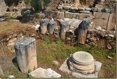 Nysa Agora later reuse of pillars