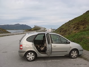 Norway's Atlantic Highway - the one night we slept in the car