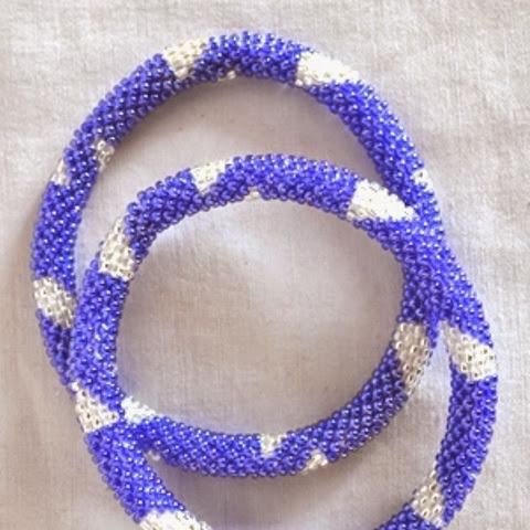 rollover bracelet blue shaded white