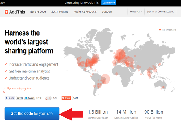 The Largest Social Sharing and Targeting Platform AddThis