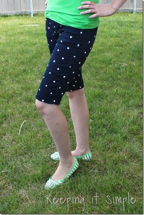 DIY polka dot shorts (12)