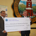 Check Presentation to the University of Arkansas at Pine Bluff STEM Project