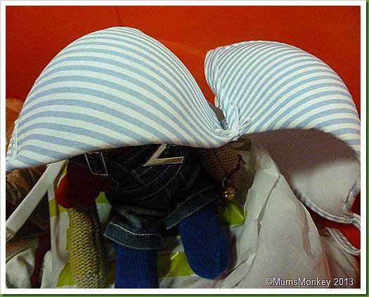 hiding under a bra