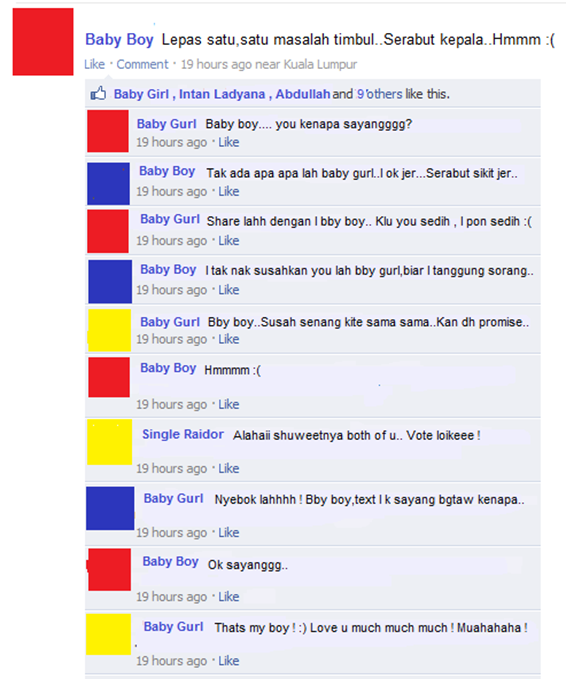 Gadoh di facebook