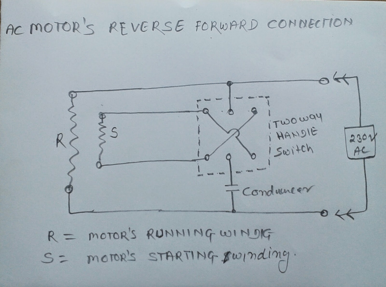 ELECTRIC & ELECTRONICS PROJECT: Ac Motor reverse forward connection