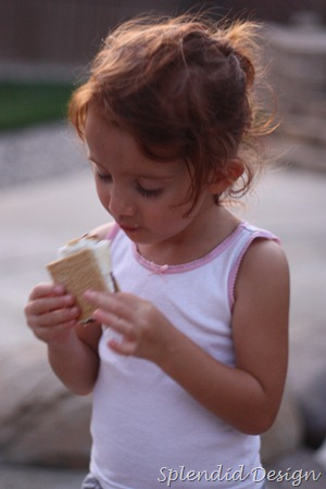 Madison with a smore