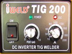 ตู้เชื่อมไฟฟ้า IWELD TIG200 หน้าปัด