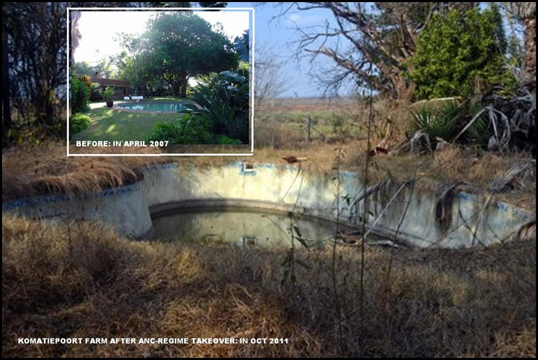 KOMATIEPOORT FARM SWIMMING POOL AFTER ANC TAKEOVER3YRS LATER OCT2011