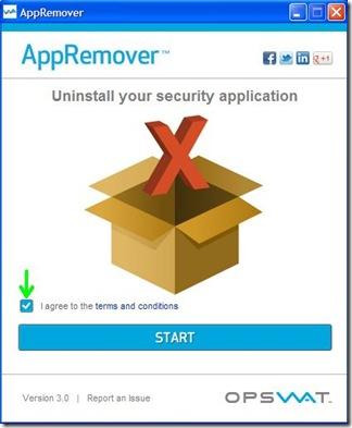 AppRemover avviare scansione programmi installati