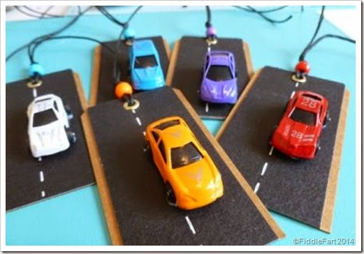 car gift tags. micro car gift tags