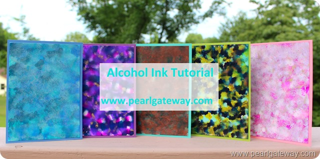 Alcohol Ink Tutorial Cover