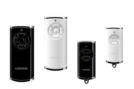 Garador two button and five button Series 3 handsets black and white