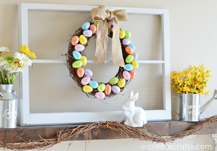 DIY Easter Mantel by UCreate
