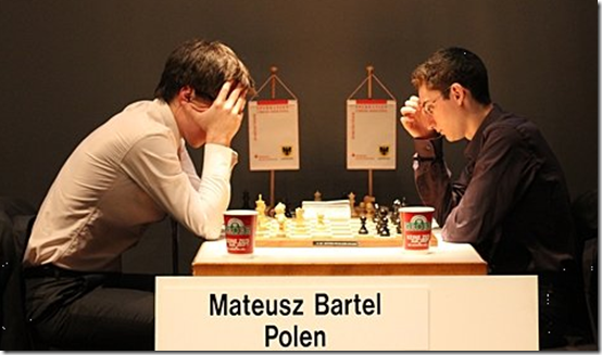 Mateusz vs Caruana, round 9, Dortmund Sparkassen Chess Meeting 2012 Germany