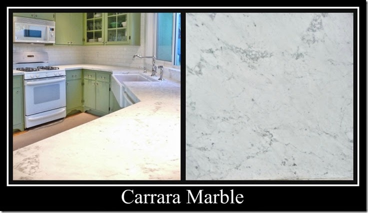 Ribbet collage Carrara Marble