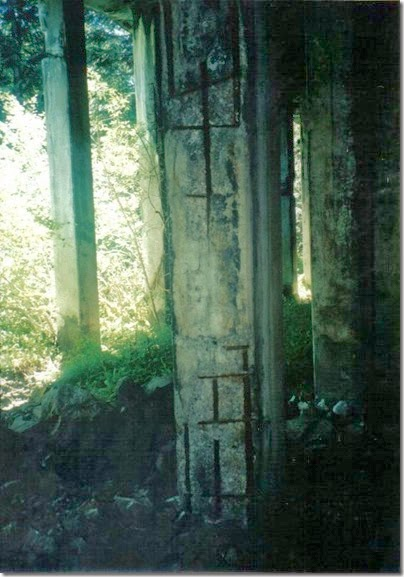 Column of Concrete Snowshed on the Iron Goat Trail in 2000