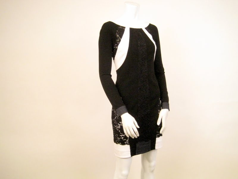 DVF Lace Inset Dress
