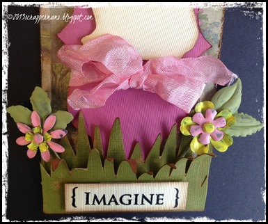 bottom half of Imagine Easter tag