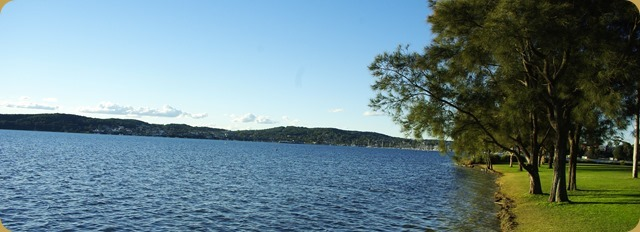 View over Lake Macquarie