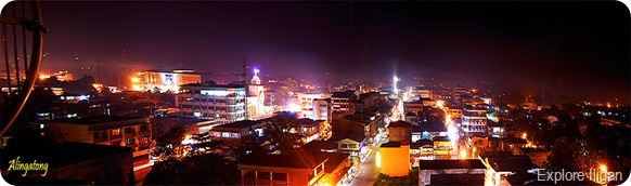 Night shot of Iligan City downtown area