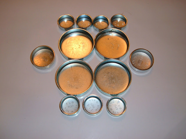 Steel Freeze plug kits 15.00 and do not come with oil galley plugs.