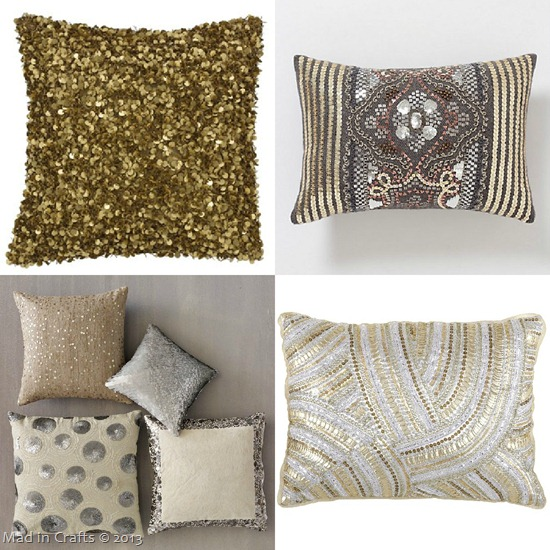 Sequined Pillows