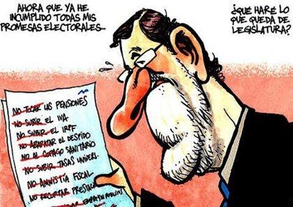 Rajoy el incumplidor