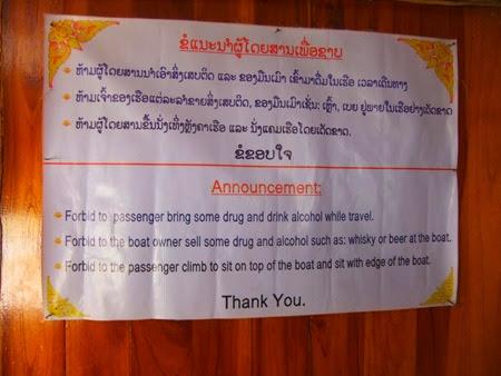 barco lento de Huay Xai a Luang Prabang