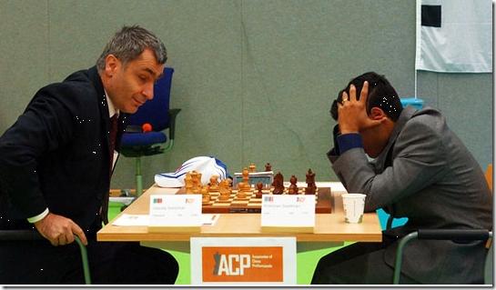 Ivanchuk vs Sasikiran, India, round 6, ACP Golden Classic 2012